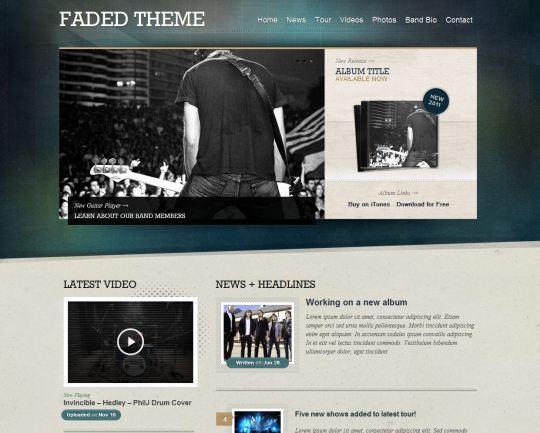 Faded WordPress Theme