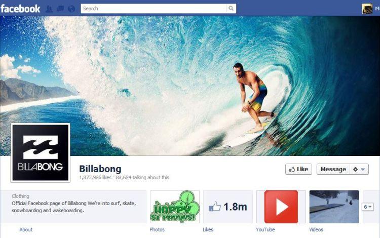 Bilabong Facebook Brand Timeline