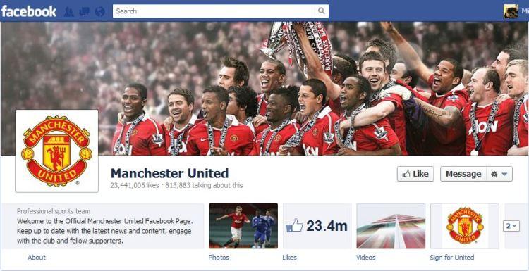 Man Utd Facebook Brand Timeline