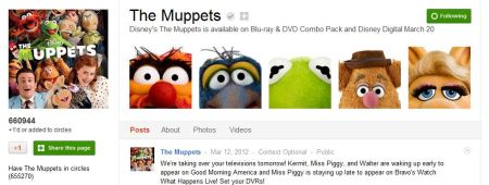 The Muppets Google Plus Page