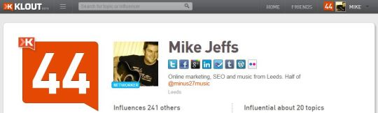 Klout Twitter Tools - Mike Jeffs Online Marketing Blog
